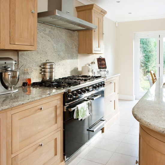 Oak And Cream Kitchen With Range Cooker