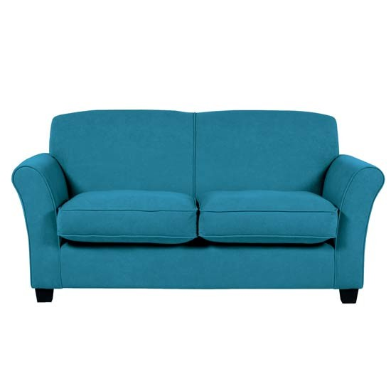Teal sofa from Homebase Bud sofas