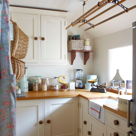 Cream country-style kitchen  decorating ideas  Ideal Home ...