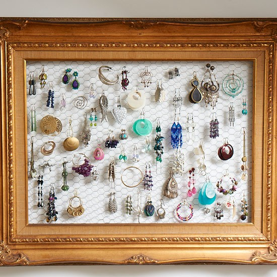 Earrings frame | storage | traditional | PHOTO GALLERY | Style at Home | Housetohome