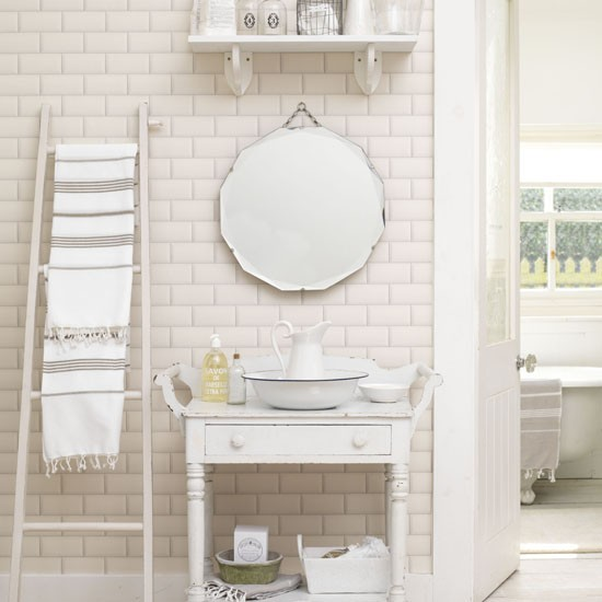 Fresh white shabby chic bathroom
