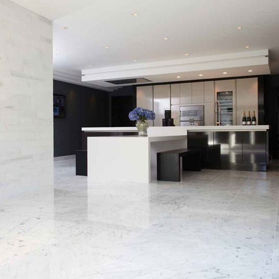 Marble flooring kitchen flooring ideas for Kitchen flooring ideas uk