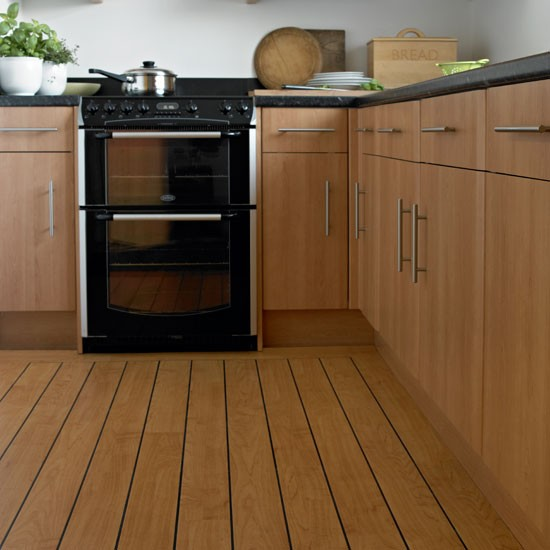 Wood effect vinyl flooring kitchen flooring ideas for Vinyl kitchen flooring