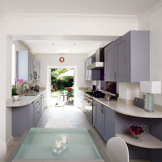 Spacious galley kitchen galley kitchen design ideas for Opening up a galley kitchen