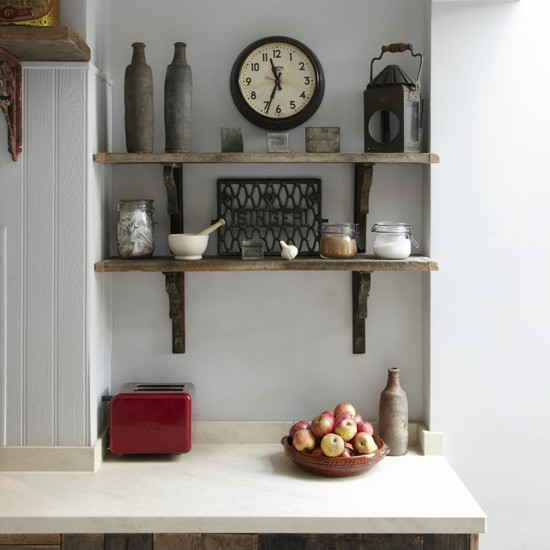 Kitchen shelves | Vintage style | Victorian terraced house | PHOTO GALLERY | Ideal Home | Housetohome
