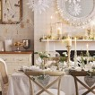 White and silver dining room