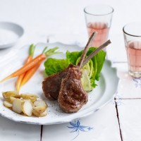 Pan-cooked cutlets with guava glaze
