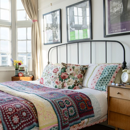 Decoracao Vintage Quarto Masculino ~ Patchwork and crochet bedroom  Summer style home trends decorating