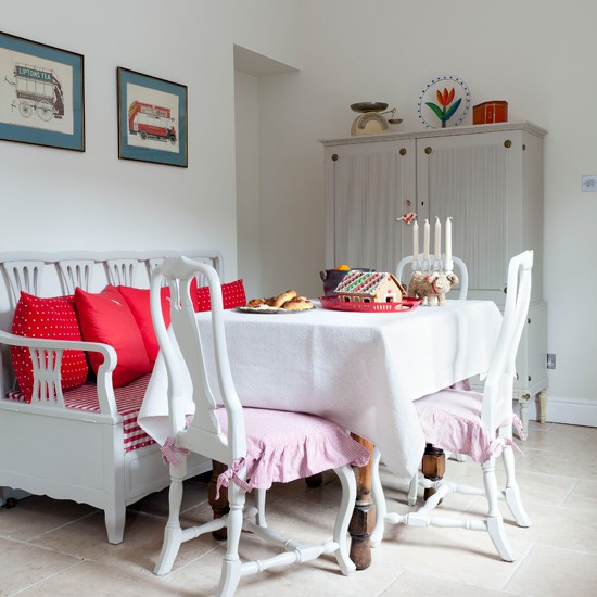 Gustavian style white dining room | Modern kitchen ideas | Ideal Home | Housetohome.co.uk