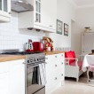 White country kitchen with Scandi-style furniture