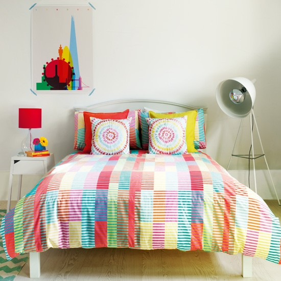 Create a bright bedroom scheme with candy colours for Candy bedroom ideas