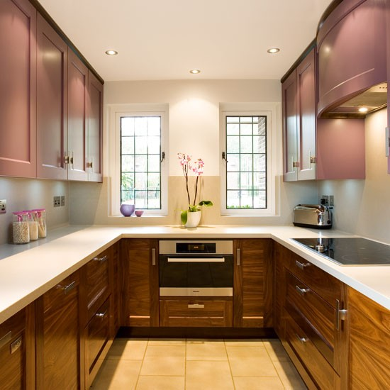 Country style kitchen small kitchen design ideas U shaped kitchen ideas uk
