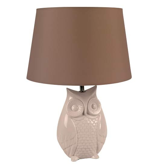 ceramic owl lamp from asda direct table lamps. Black Bedroom Furniture Sets. Home Design Ideas