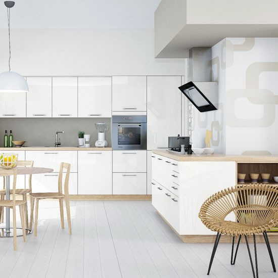 Modern Kitchen White Gloss Lacquered photo - 8