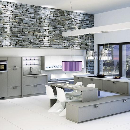 Modern Grey Kitchen: Chic Grey Kitchen-diner