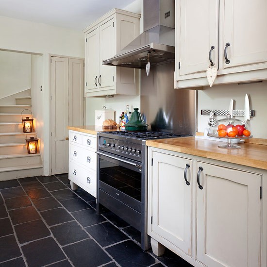 Slate Flooring | Country Slate Flooring | Country Kitchen Ideas |  Housetohome.