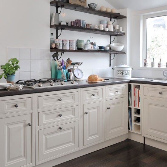 open shelving country kitchen ideas
