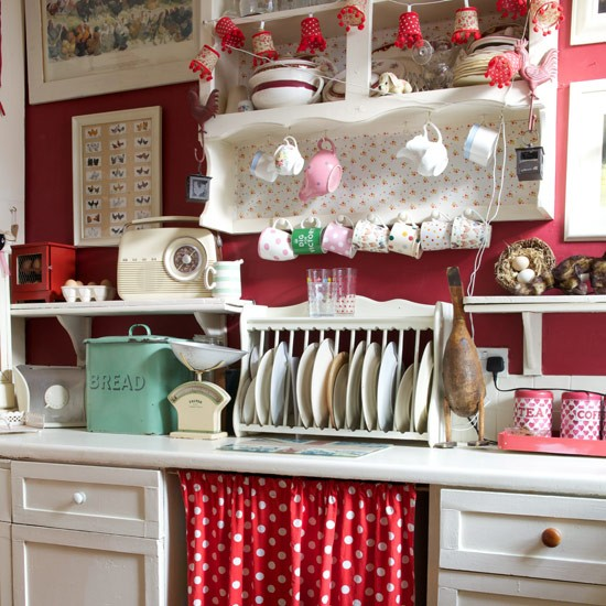 Under-counter curtain | Country kitchen ideas | Style at Home | housetohome