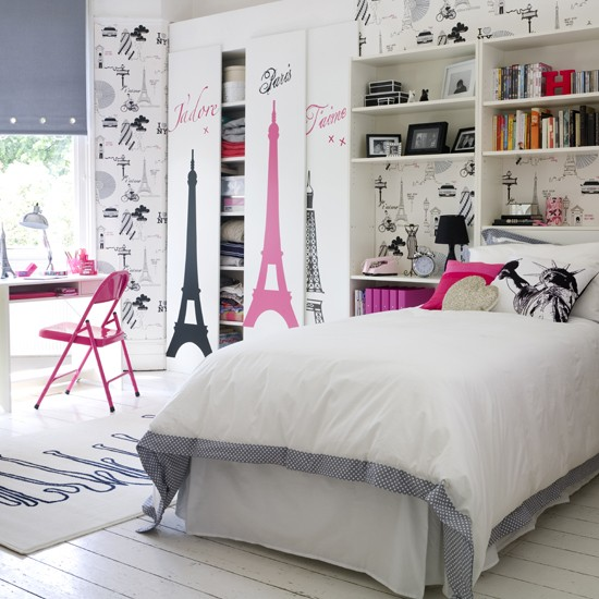 Go for a chic city theme teenage girls 39 bedroom ideas for City themed bedroom ideas