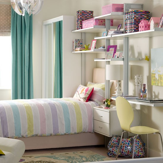 Pick fresh candy coloured pastels teenage girls bedroom Teenage small bedroom ideas uk