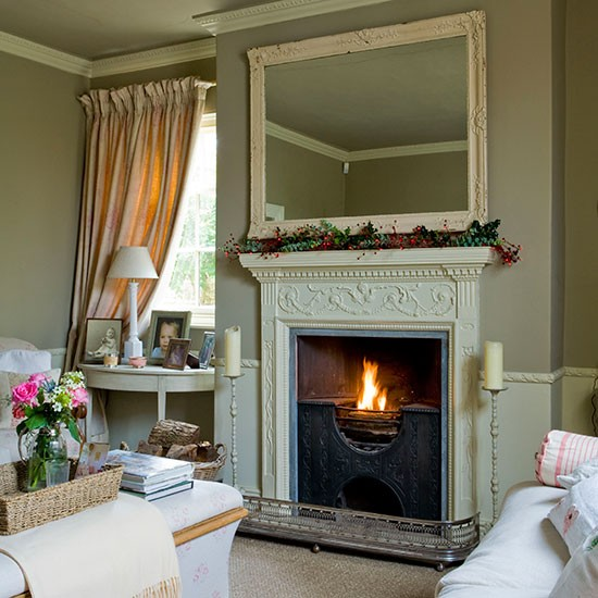 Front sitting room fireplace | Georgian house tour in Lincolnshire | PHOTO GALLERY | Homes & Gardens | housetohome.co.uk
