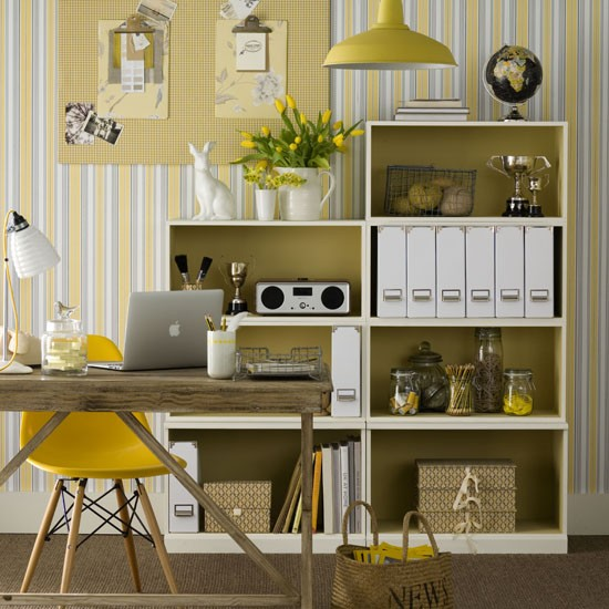 Sunny home office | Home office | PHOTO GALLERY | Ideal Home | Housetohome.co.uk