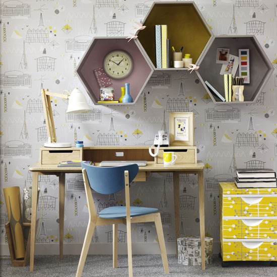 Mid-century home office   Home office   PHOTO GALLERY   Ideal Home   Housetohome.co.uk
