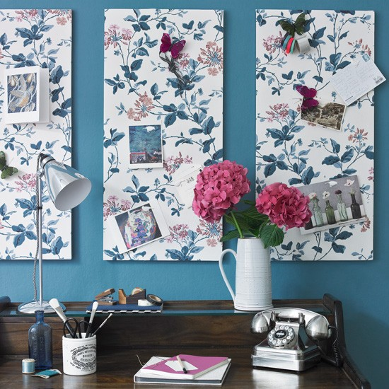 Decorative study noticeboards | Home office | PHOTO GALLERY | Ideal Home | Housetohome.co.uk