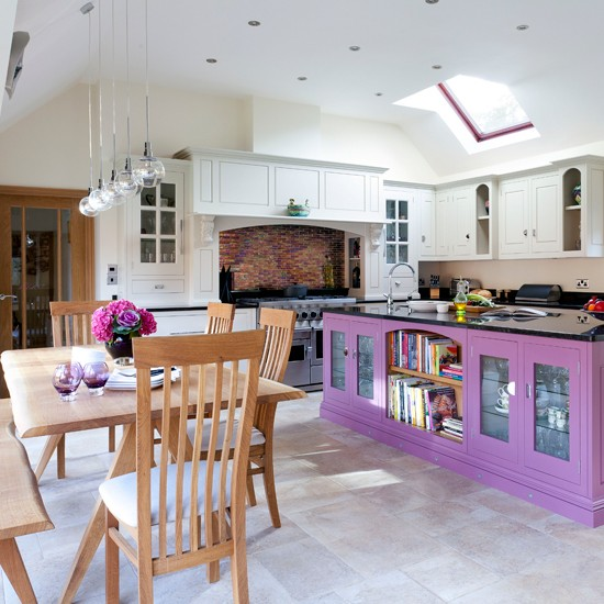 Plum Kitchen Paint: Plum And White Kitchen Diner