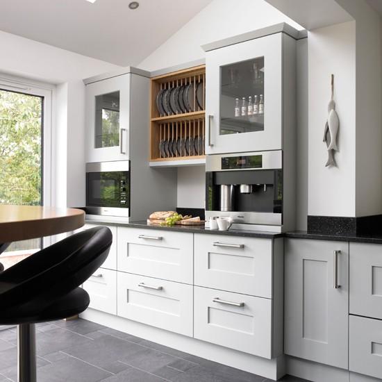 Pale blue oak kitchen  Traditional kitchen ideas  Beautiful Kitchens