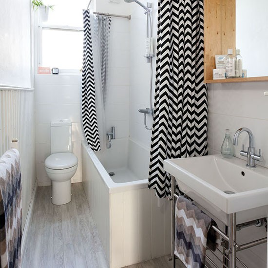 Compact bathroom take a tour of this smart tenement flat for Ideal home bathroom ideas
