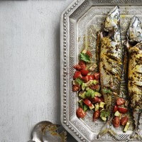 Marinated mackerel with sumac salsa