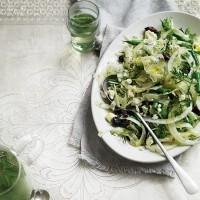 Shaved fennel, feta and olive salad