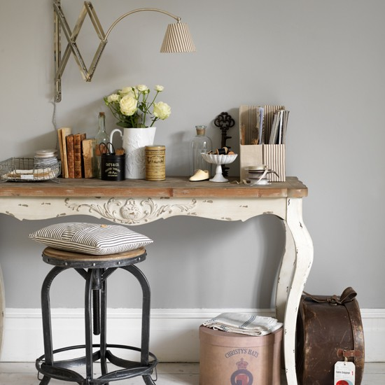 Vintage Style Home Decor Ideas Sydney Cleaning Services: Grey And Cream Vintage-style Home Office
