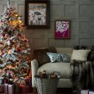 Festive folk living room