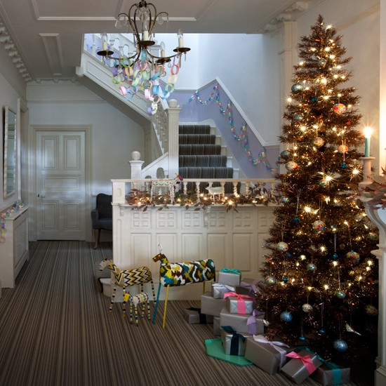 Pastel christmas family hallway How to decorate your hallway for christmas