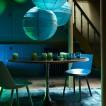 Dramatic blue dining room