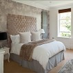 Luxurious subtle patterned bedroom