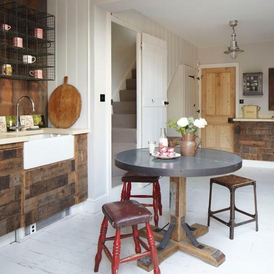 Rustic antique kitchen-diner   housetohome.co.uk