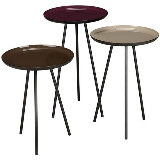 Content By Conran Accents Round Side Tables With Metallic Top By John Lewis Living Room