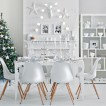 Winter white festive dining room