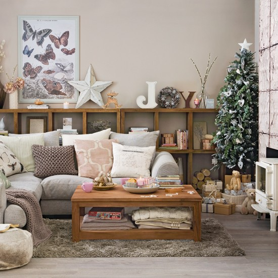christmas living room decor interesting silver and grey christmas