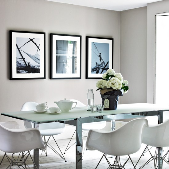 Cool grey dining room for Grey dining room