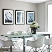Cool grey dining room