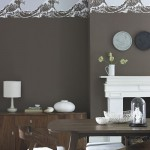 Brown stencilled dining room | Dining room decorating ideas | Ideal Home | Housetohome.co.uk