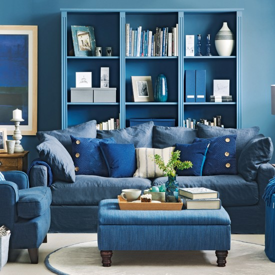 denim blue living room living room decorating ideas ideal home