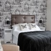 Monochrome motif bedroom 