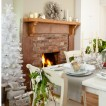 Sage and white festive dining room