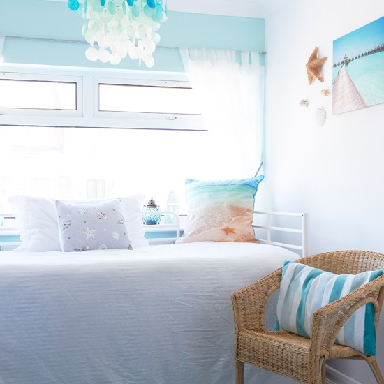 aqua and white coastal bedroom traditional decorating ideas style