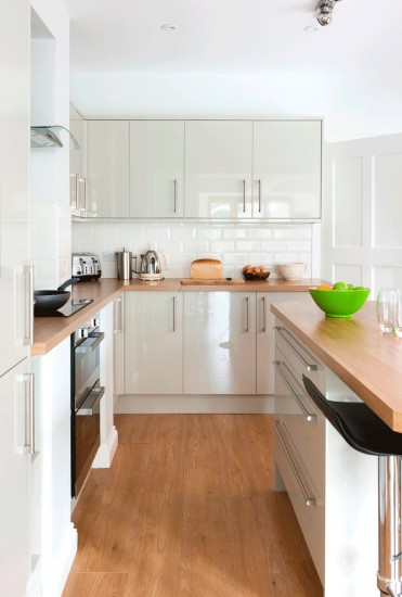 amazing white kitchen wood worktop 1. white kitchen with oak ...